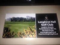 LONGHIRST HALL GOLF CLUB 4 BALL