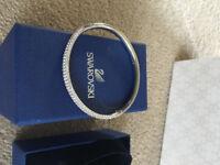 Swarovski Stone Crystal Bangle Brand new with box and Beaverbrooks gift bag.