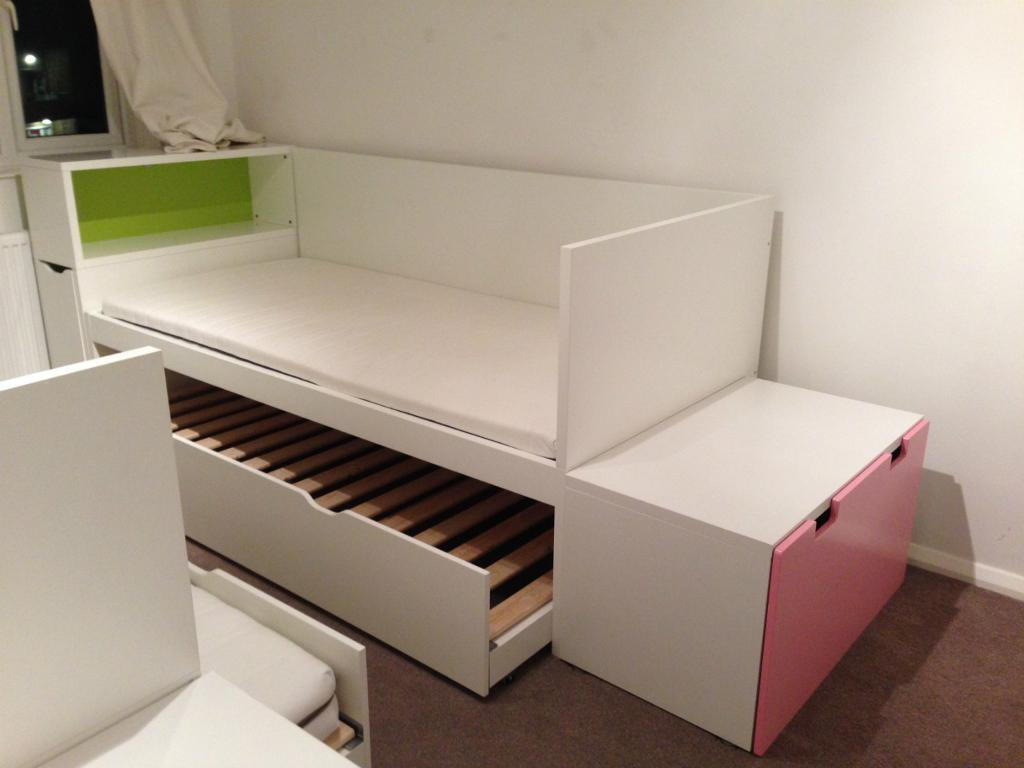 Ikea FLAXA Headboard with storage& STUVA Storage bench only each u00a335 in Hammersmith, London
