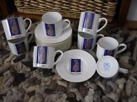 EXPRESSO COFFEE CUPS & SAUCERS