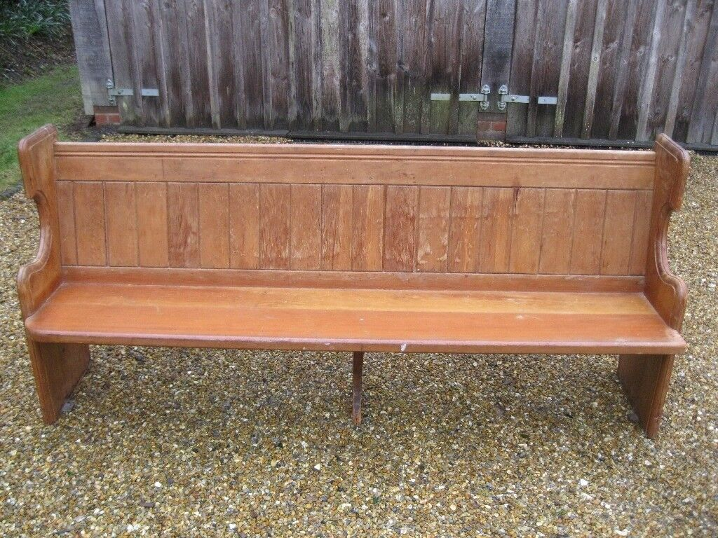 Victorian Church Pew Delivery Poss A Longer Pine Pew Chapel