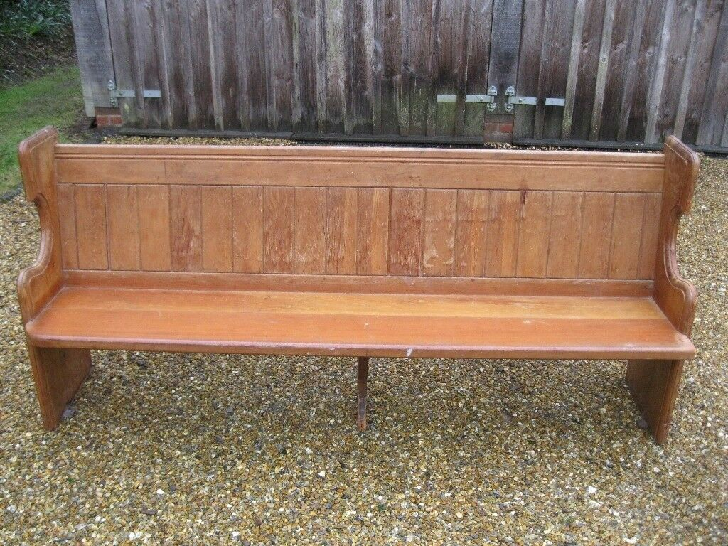 Victorian Church Pew Delivery Poss A Longer Pine Pew