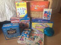 Range of board games all pieces intact