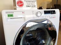 £100 OFF! - Brand New HOOVER 9KG 1600 WASHER (RRP £299) + 12 Months Warranty + FREE LOCAL DELIVERY