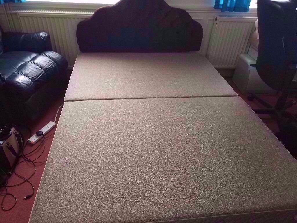 Slumberland Bedroom Furniture Slumberland Double Divan Bed Base With Headboard And 4 Drawers