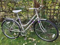 ladies emmelle classic 5 speed cycle,new tyres,20 inch frame