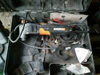 Worx ocillating saw,220v, used