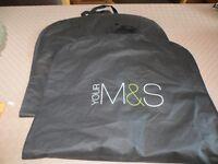 2 M&S plastic suit carriers