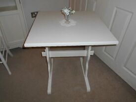 REFECTORY STYLE TABLE PAINTED COUNTRY WHITE