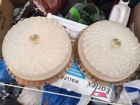 2x Ceiling dome globe light bulbs