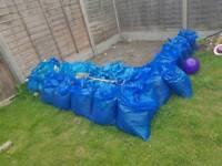 Rubble/ dirty soil (part bagged)