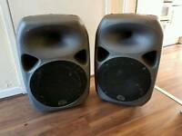 Wharfedale titam 15' x2 pa dj speakers all working perfectly