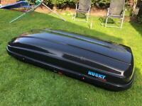 KAMEI Husky XXL black roof box LEFT side opening for sale  Grove, Oxfordshire
