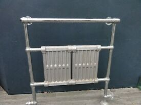 Vintage Victorian style chrome towel rail radiator