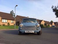 Classic 1987 Austin Mini in a Retro Blue Colour