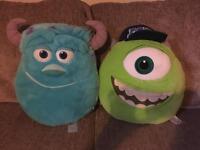 Monsters university cushions/teddy
