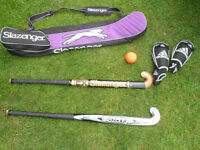 Hockey sticks and accessories