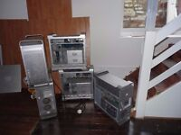 5 Apple Mac: Mac pro A1186 and 4 Apple Mac G5 computer tower complete with RAM