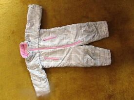 H&M Girl's all in one suit - autumn winter spring- 12-18 months.