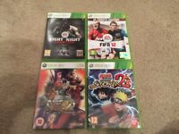 XBOX 360 Fight Night Champion / Fifa 12 / Super Street Fighter IV / Naruto: Ultimate Ninja Storm 2