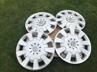 "4 x 15"" GENUINE Vauxhall Corsa Combo Astra Van wheel trims hubcap cover"
