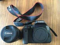 Canon EOS 750D with EFS 18 - 55mm lens