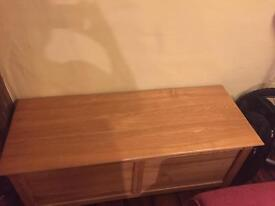 Solid Oak blanket / toy box