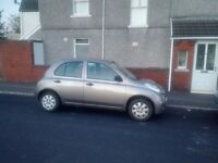 56 plate Automatic Nissan micra for sale