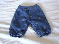 Embroidered jeans - 0 to 3 months