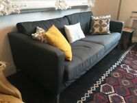 Three seater space grey sofa