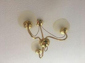 Brass ceiling lights