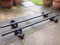 Pair of Square Roof Bars - Halfords Brand - £30