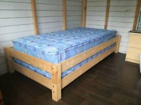 2x stackable single guest beds with mattress
