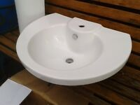 Brand new bathroom wash basin and pedestal