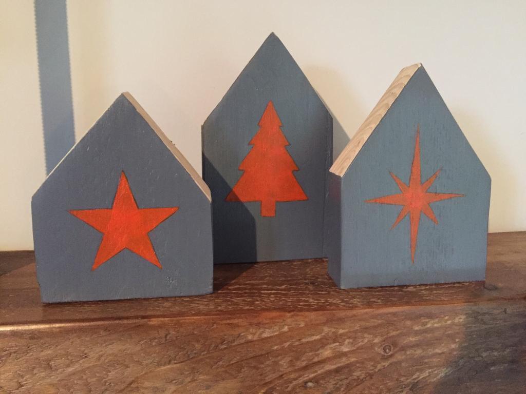 Xmas blocks grey & orange