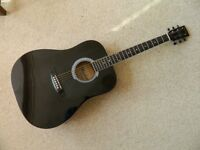 Manhattan Electro-Acoustic Guitar With Pre-amp in New Padded Bag + Picks