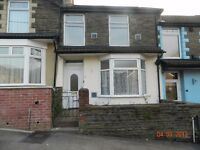 3 Bedroom Terrace House For Rent, Fron Terrace, Pontypridd