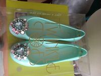 Ted baker size 6 jelly brooch shoes mint green