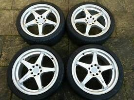 "18"" Mugen Alloy Wheels & Tyres"