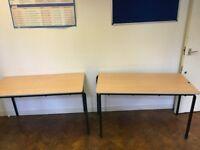 Two office desks