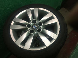 "Genuine BMW 318es 4 x 17"" Staggered Alloy Wheels & Tyres. ."