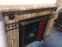 Marble & Cast Iron Fire surround