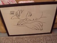 PICASSO FRAMED PRINT (SLEEPING WOMAN)