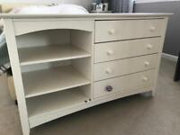 Bedroom white chest of drawers