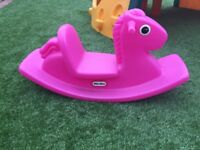 Little tikes pink rocking horse
