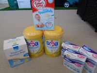*New* Disposable Steriliser Bags, Milton Tablets, SMA Milk & Baby Rice