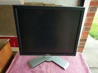 3 Dell PC Monitors 17 Inch LCD TFT VGA DVI USB 2.0