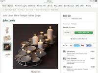 John Lewis mirror tea light / candle holder