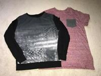BARGAIN! Boys 11-12 and 12-13 tops x 2