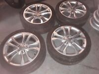 AUDI A3 A4 TWIN SPIDER ALLOYS AND TYRES VGC